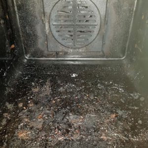 Oven inside before cleaning