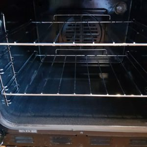 Oven interior after cleaning by R&R Solid Cleaning
